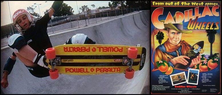 Skateboard en 1970
